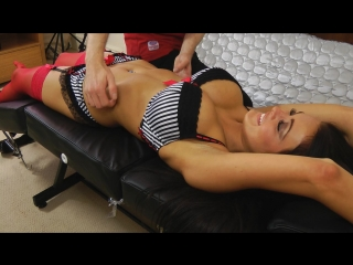 Charley Atwell Hot Body Stretch and Tickle ( erotic эротика fetish фетиш playboy model модель milf big boobs pussy )