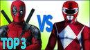ТОП 3 РЭП БИТВ СУПЕР-ГЕРОЕВ РЕЙНДЖЕРЫ VS ДЭДПУЛ Top Superhero rap Power Rangers VS Deadpool 2