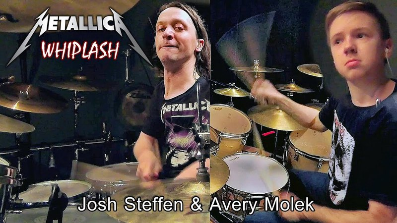 WHIPLASH - METALLICA - Drumming Tag Team(Drum Cover)(Avery Molek and Josh Steffen)