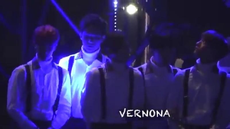 Seventeen during baps performance