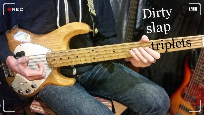 Dirty Slap Triplets on Music Man Stingray 5 Bass Guitar