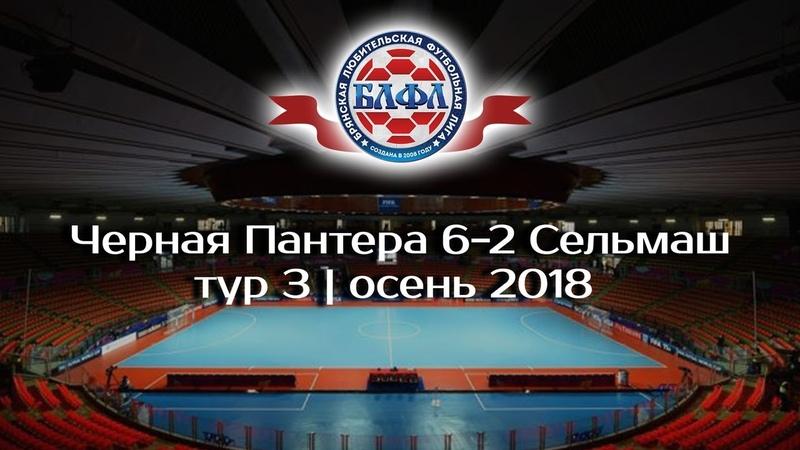 Черная Пантера 6-2 Сельмаш | осень | тур 3 | 2018