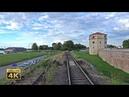 4K CABVIEW Beograd Marshalling Yard - Beograd Main station - Beograd Dunav - diesel locomotive ride