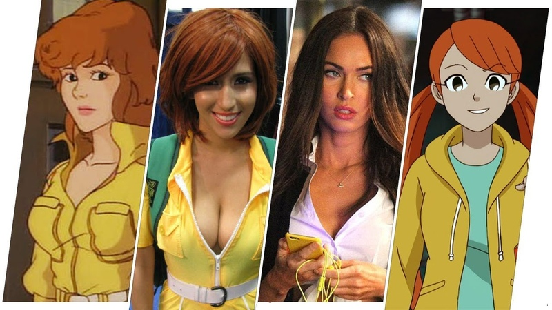 April O'Neil Evolution in Movies Cartoons (TMNT)