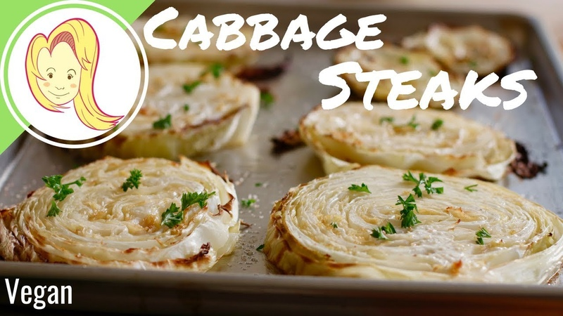 Roasted Cabbage Steaks (Vegan GF)