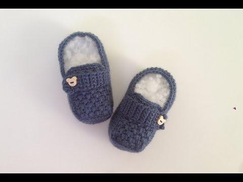 Erkek bebekler için tığ işi makosen ayakkabı modeli patik yapımı2.Bölüm-kolay patik yapımı