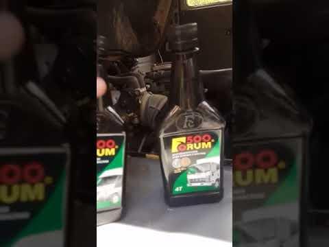 Заливка добавки Форум 500 в УАЗ Буханку