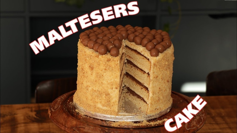 Delicious Malteser Cake, layered chocolate and biscuit cake by Food with Chetna!