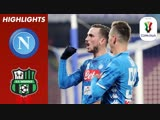 Napoli vs. Sassuolo _ Goals From Milik Ruiz Seals Win For Napoli _ Coppa Itali