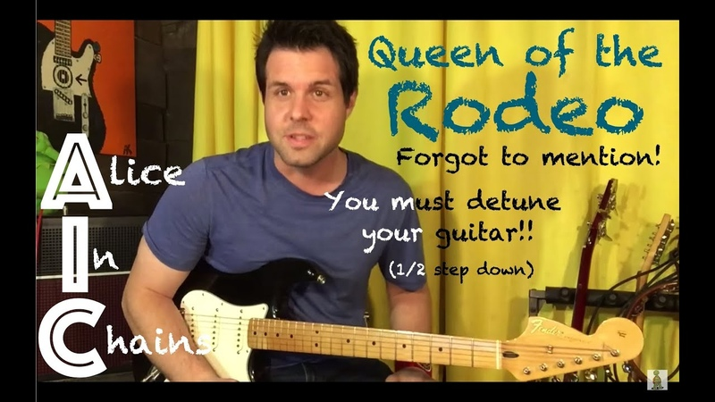 Guitar Lesson How To Play Queen Of The Rodeo By Alice In Chains