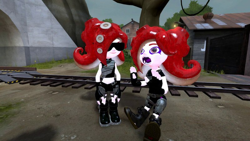 [GMOD RUS-ENG] Splatoon 2 - Octolings with Inkling hair
