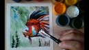 Рисуем золотую рыбку(гуашь) Draw a goldfish(gouache)