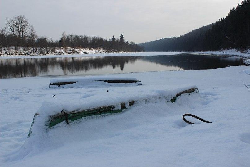 Река Уфа (территория Саранинского дома отдыха)