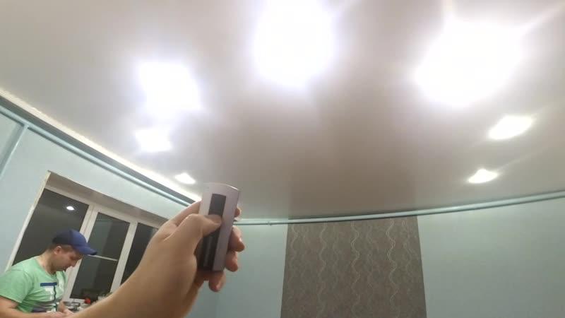 Потолок с пультом