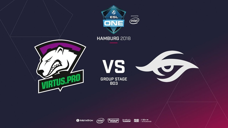 Virtus.pro vs Team Secret - Game 1, Winner Bracket Semifinals - ESL One Hamburg 2018