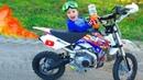 Заправил ПитБайк брата ФАНТОЙ my brother's pitbike
