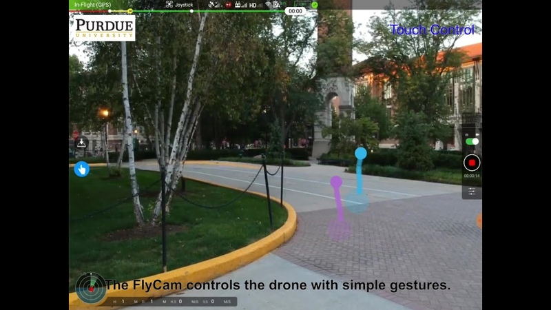 FlyCam Multi touch Gesture Controlled Drone Gimbal Photography