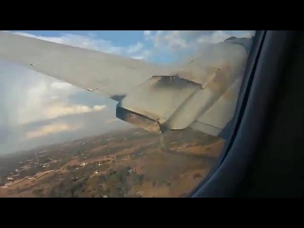 В ЮАР пассажир самолёта изнутри снял его крушение [ vk.com/CINELUX ]