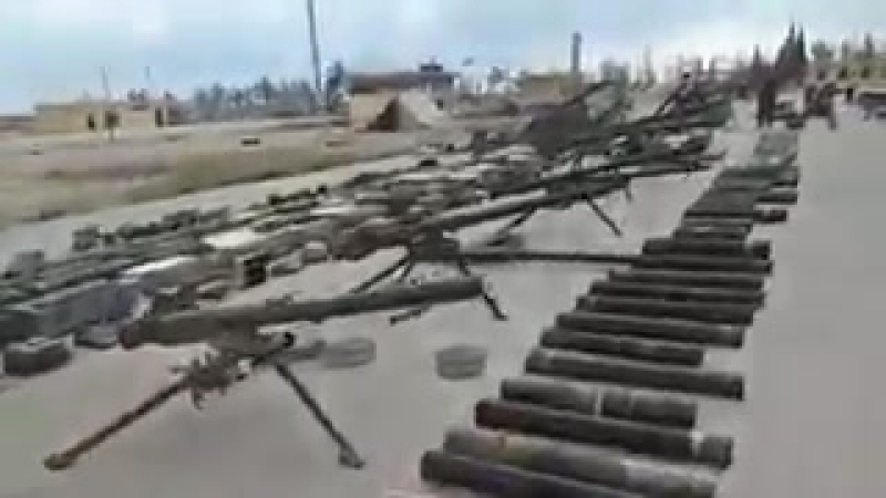 Video showing unreal amount of weapons handed over to Syrian forces in East Qalamoun