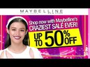 Maybelline Crazy Sale 2017 Holiday Beauty Treats with Maybellines Craziest Sale!