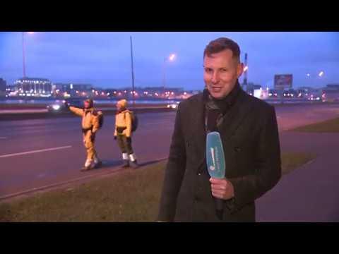 В Петербурге прошла гонка автостопщиков