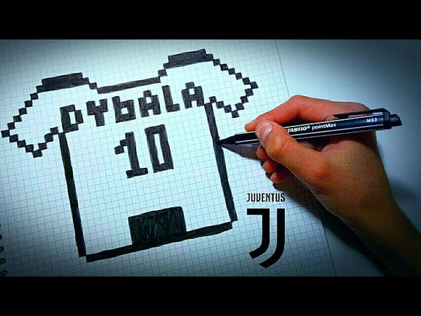 Как рисовать Футболку Дибалы по клеточкам Футбольные рисунки по клеточкам пиксель арт Muaz Creative.
