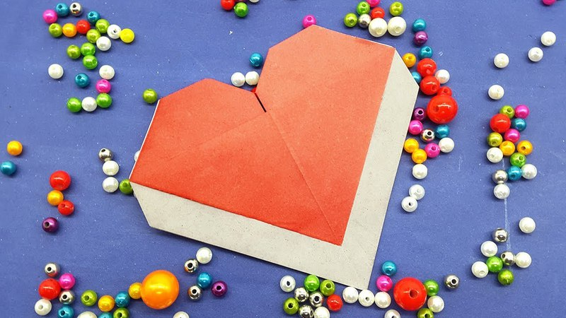 Origami Heart Envelope with Massage - DIY Paper Heart Envelope