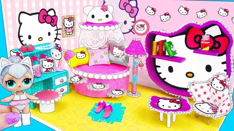 МИНИ дом Семейки Китти Квин Куклы ЛОЛ Сюрприз Мультик LOL Surprise toy DIY Miniature Dollhouse