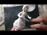 Ватная елочная игрушка-девчушка. МК ЧАСТЬ 1