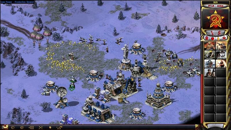 Red Alert 2 Yuris Revenge - 1 vs. 7 Brutal AIs (Libya vs. Korea on Russian Roulette)