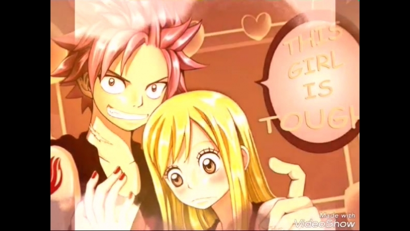 клип аниме Люси и Нацу: я просто люблю