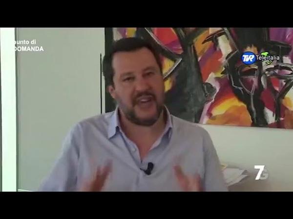MATTEO SALVINI A PUNTO DI DOMANDA (7GOLD, 22.02.2019)