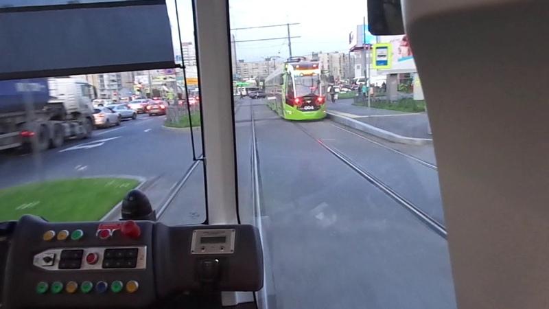 Вечерний Чижик! Трамвай Санкт Петербурга 8 680: Stadler B85600M Чижик б.006 по №8 21.09.18