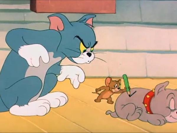 Том и Джерри Грязный щенок Задом наперед 3 сезон 20 серия