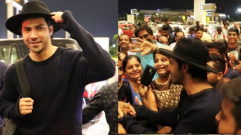 Varun Dhawan Clicks Photos With Fans Spotted At Airport