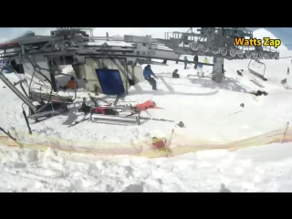 Gudauri Ski Lift accident Leaves at Least Ten injured Part