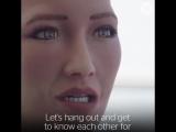 Will Smith общается с роботом