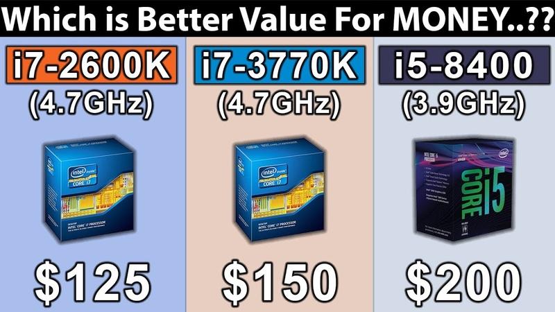 I5 8400 vs i7 2600K vs i7 3770K New Games Benchmarks
