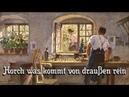 Horch was kommt von draußen rein ✠ German folk song english translation