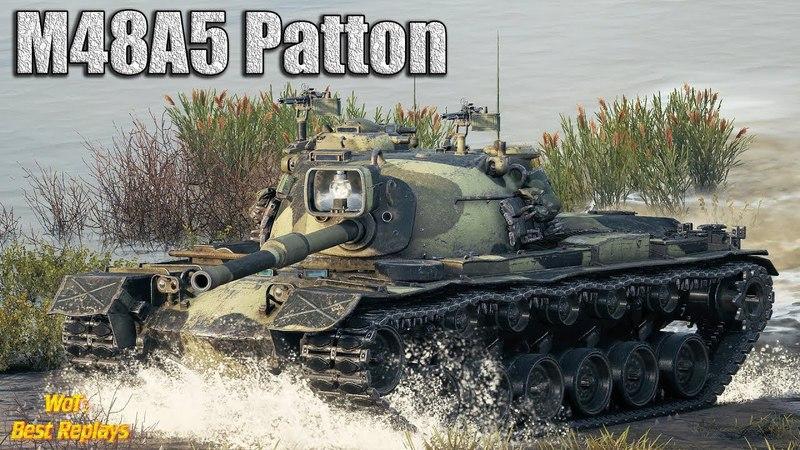 M48A5 Patton : Чудо Выживания * 10100 урона 10 фрагов , Лайв Окс