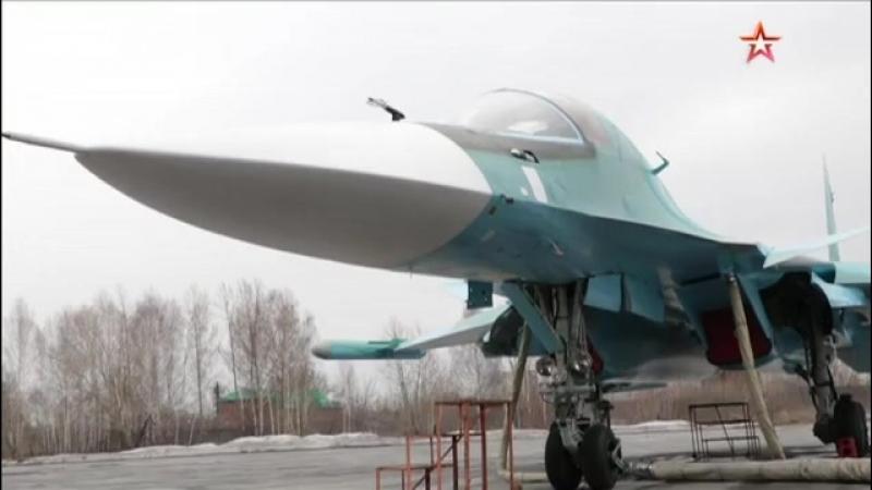 Кадры заводских испытаний новейших бомбардировщиков Су-34