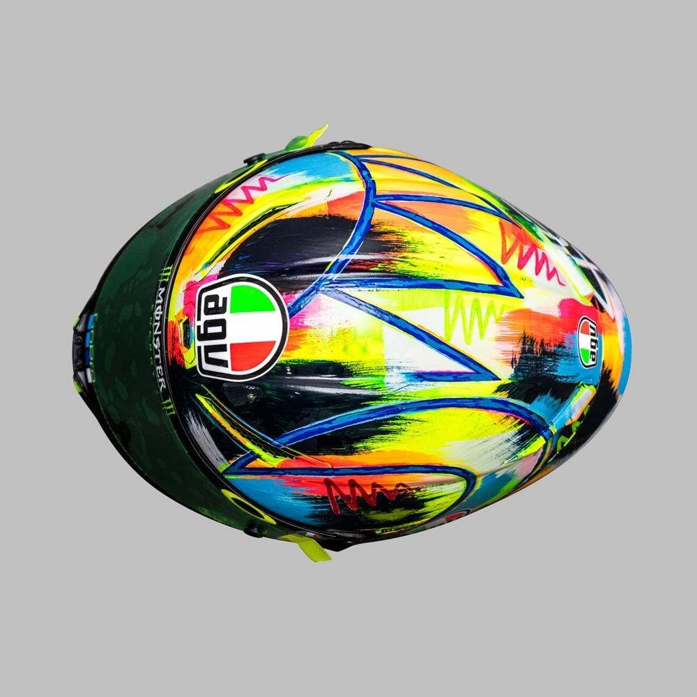 Шлем Валентино Росси для предсезонных тестов MotoGp 2019