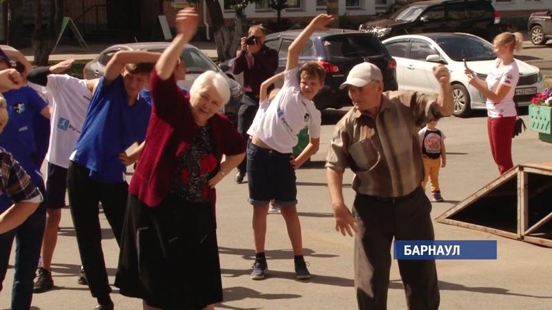 Барнаул сегодня присоединился к всероссийской акции «Зарядка со стражем порядка»