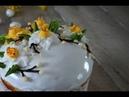 Как сделать цветы нарциссы из айсинга М К .Как украсить кулич. Рецепт айсинга.Easter bread.