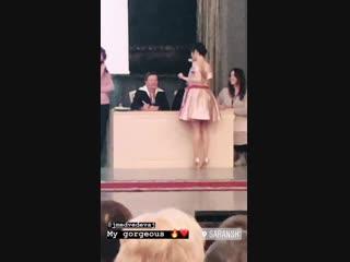 Instagram Stories Анастасии Скопцовой / Жеребьевка на «Чемпионате Россси» / 19.12.2018