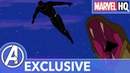 Crouching Panther Sprinting Serpent Black Panther's Quest Marvel's Avengers SHORT
