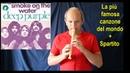 Smoke on the water Deep Purple SUPER FAMOSA note ORIGINALI