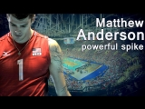 TOP 10 Best attack by Matthew Anderson - powerful spike