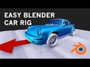 Easy and Simple Blender Car Rig Tutorial / suspension rig