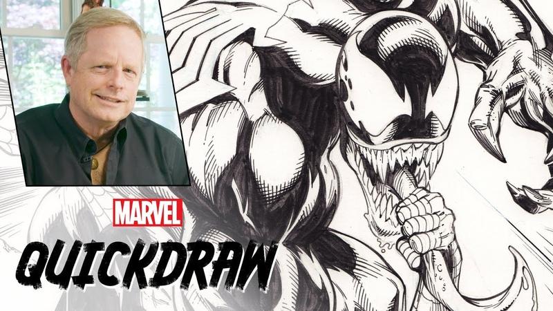 Mark Bagley draws Spider-Man Venom | Marvel Quickdraw